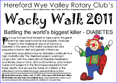 Hereford Wye Valley Wacky Walk 2011 Poster