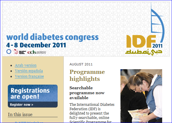 World Diabetes Congress - August Newsletter
